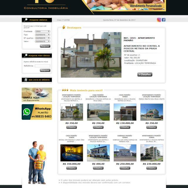 Site FS Consultoria Imobiliária – Guaratuba/PR