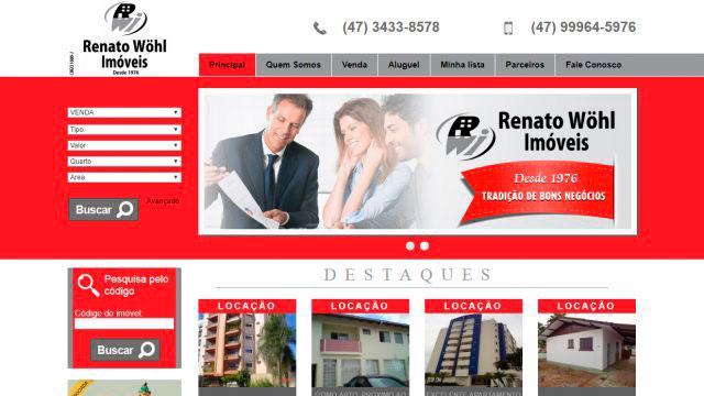 Site Renato Wöhl Imóveis – Joinville/SC